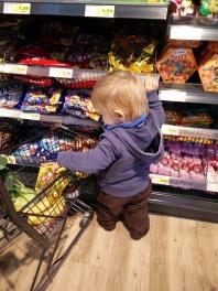 einkaufen mit Kind