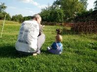 Gespräch zwischen Papa und Sohn