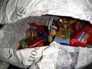 mit Süßigkeiten gefüllte Pinata