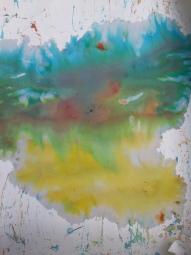 Malen mit eingefärbten Eiswürfeln