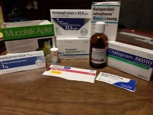 meine Medikamente während der Chemo